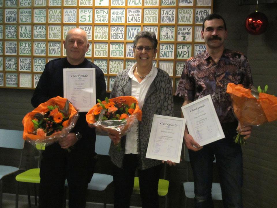 SEV benoemt drie leden tot Lid van Verdienste!