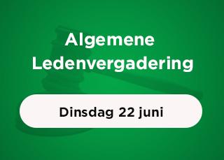 Algemene Ledenvergadering op 22 juni a.s. - update